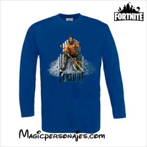 Camiseta Fornite Aquaman manga larga royal