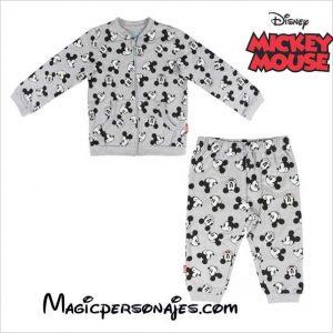 Chándal bebé Mickey brush gris