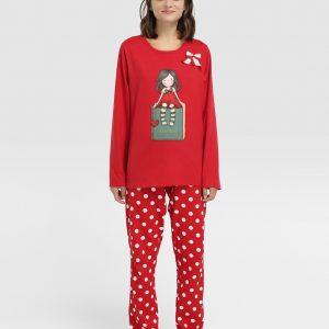 Pijama mujer Gorjuss invierno con caja libro