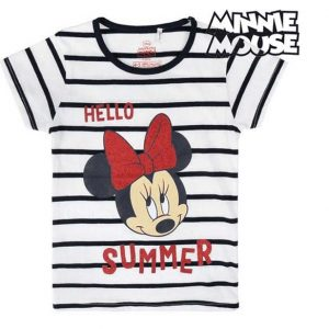 Camiseta Disney Minnie rayas manga corta