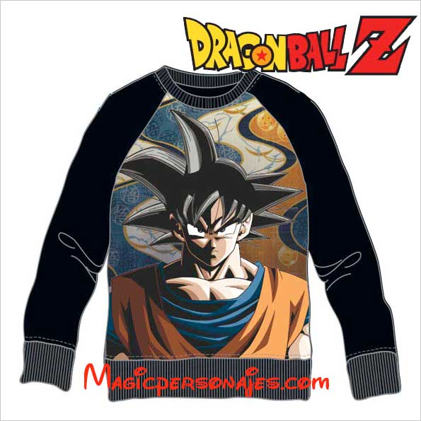 Sudadera Dragon Ball Son Goku negra