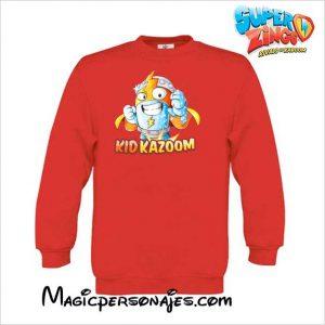 Sudadera Superzings Kid Kazoom niño roja