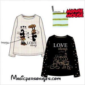 Camiseta Minnie brillante blanca o negra HS1083