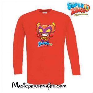 Camiseta Superzings Croissant niño roja