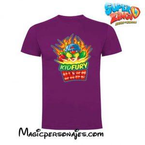 Camiseta Superzings Kydfury lila