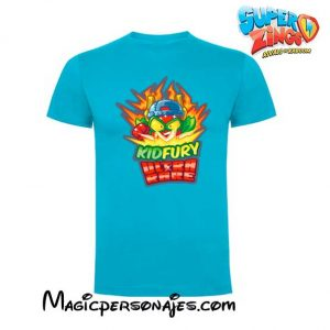 Camiseta Superzings Kidfury turquesa
