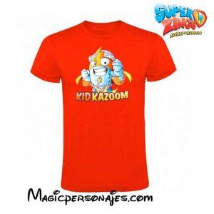 Camiseta niño Superzings Kid Kazum roja