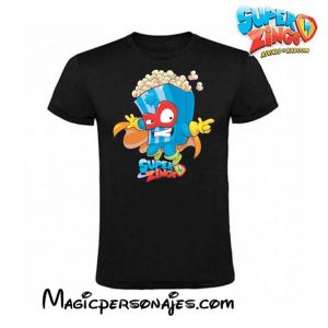 Camiseta Superzings Pop Corn negra
