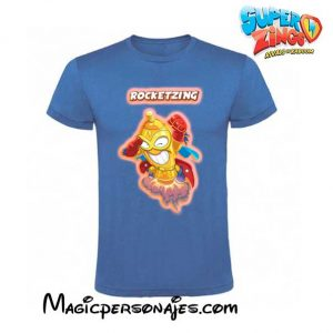 Camiseta Super Zings Rocketzing azul real