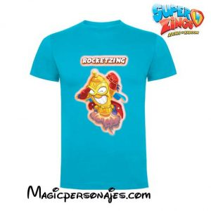 Camiseta Super Zing Rocketzing turquesa