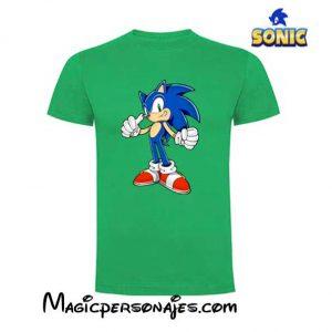 Camiseta Sonic OK niño manga corta verde