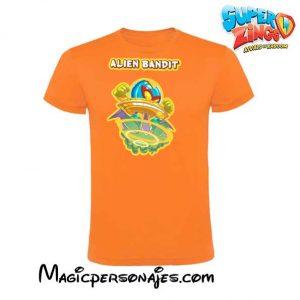 Camiseta Super Zings Alien Bandit naranja