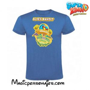 Camiseta Super Zings Alien Bandit azul royal