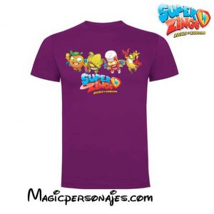 Camiseta Super Zings Grupo verano lila