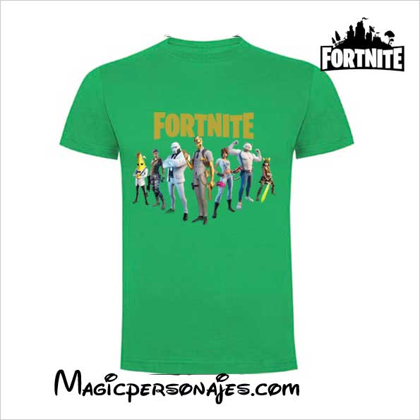 Camiseta Fornite Capítulo2 manga corta color verde
