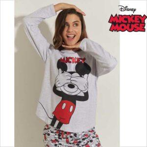 Pijama niña Mickey Mousse manga larga