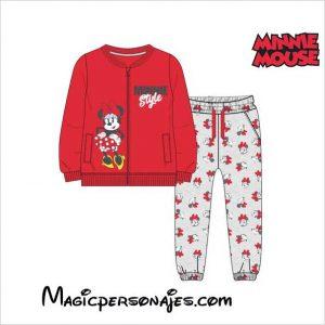 Chándal Infantil Minnie Mouse 74789 Rojo
