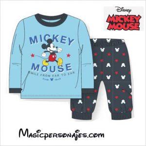 Pijama Mickey Disney muy cómodo de terciopelo tallas 12 a36 meses Infantil Invierno dos piezas terciopelo