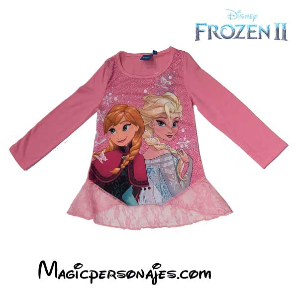 Camiseta Frozen con encaje