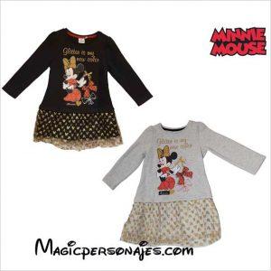 Vestido Minnie con falda de tul brillantes