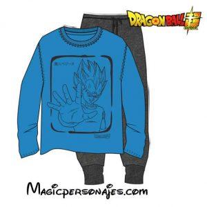 Pijama Vegeta de Dragon ball adilto Manga Larga Toei Animation