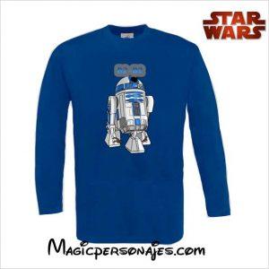 Camiseta Star Wars R2 D2 royal