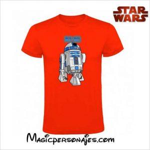 amiseta Star Wars R2 D2 roja