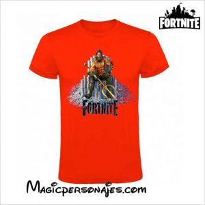 camiseta Fornite Aquaman manga corta roja