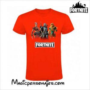 Camiseta Fornite Temporada 5 manga corta roja